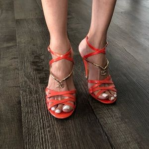 💯 authentic CHANEL sandals heels 👡 👌🏻